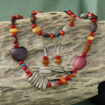 Mixed Australian tropical seeds Necklace, Bracelet, Earrings Set 6d