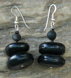 Merremia Dissecta and Mucuna Gigantea seed Earrings 3c