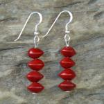 Red Bead Seed (Adenanthera Pavonina) Earrings 17c