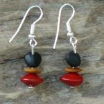 Merremia, Lebbeck and Red Bead seeds Earrings 15c