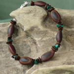 Malachite gemstones,Milatto's ear and Leucaena seeds Bracelet   4b
