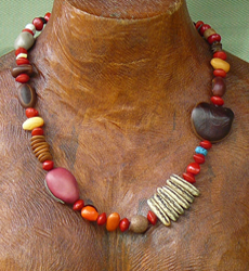 Mixed Tropical Seeds Necklace 6a