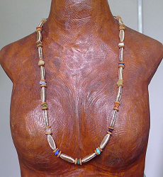 Mixed Gemstones with Poinciana and Lebbeck seeds Necklace #45a