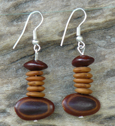 Autumn mix of Australia's Far North Queensland seed Earrings 34c