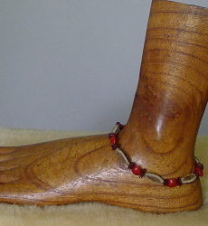 Poinciana,Leucaena and Red Bead Seed Anklet #59